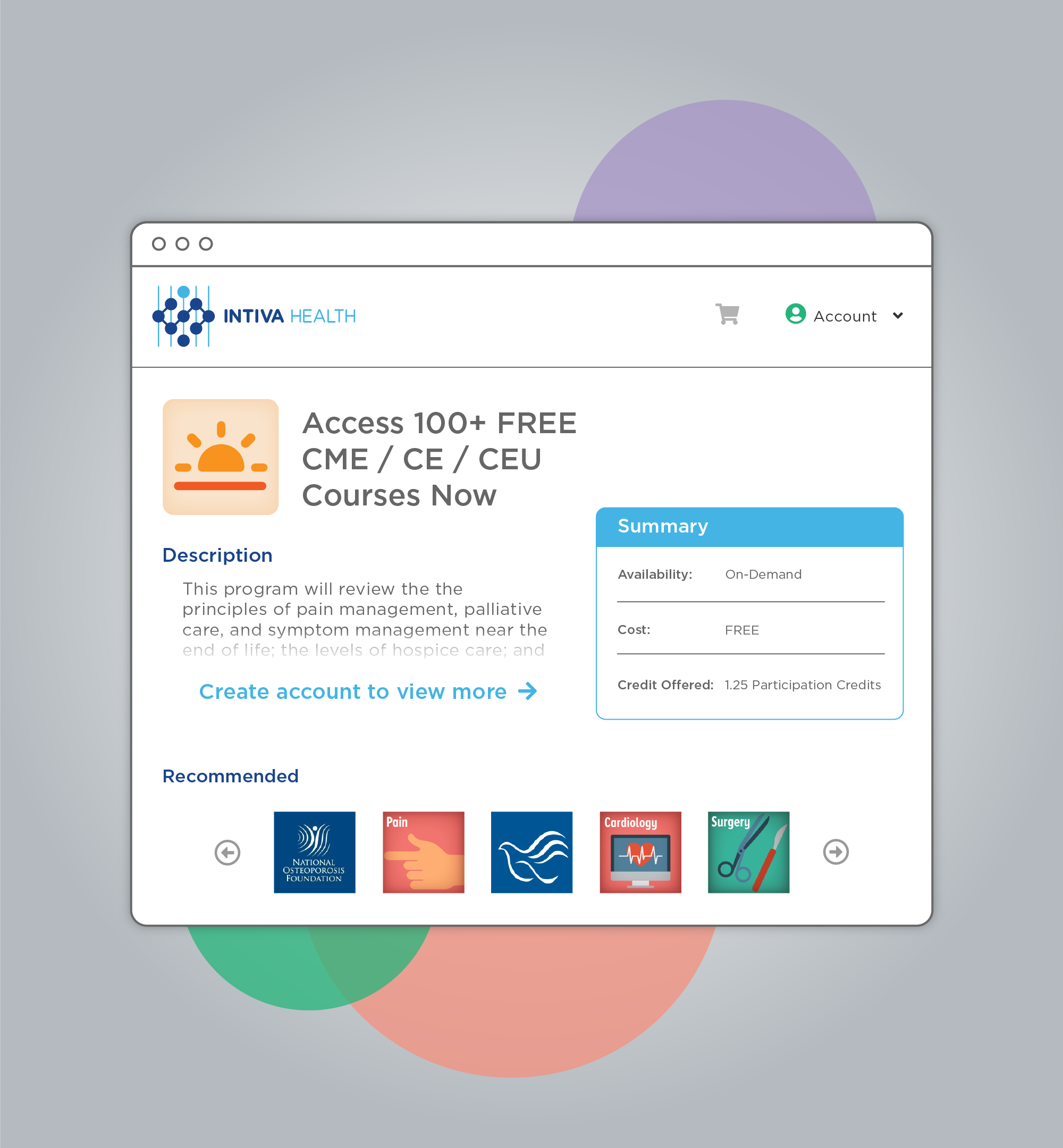 Earn CME / CE / CEU credits for FREE on the go